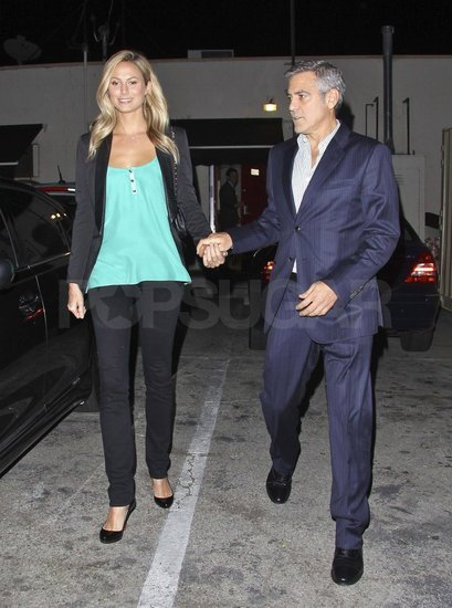Stacey Keibler and George Clooney