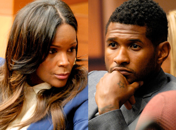Tameka Foster and Usher in court