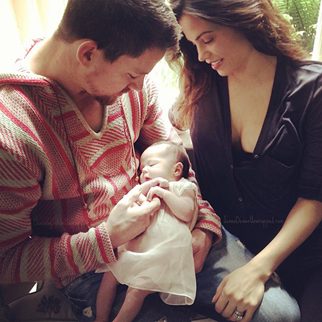 Channing Tatum with wife Jenna Dewan-Tatum and baby Everly