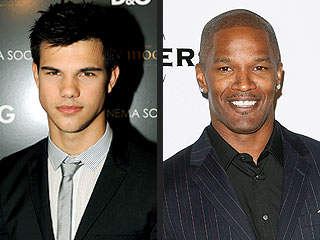 Taylor Lautner and Jamie Foxx