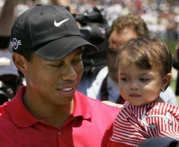 Tiger Woods and daughter