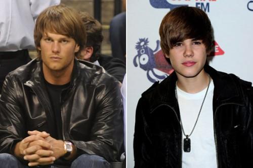 Tom Brady and Justin Bieber