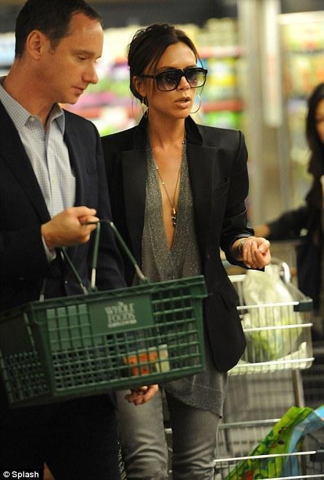 Victoria Beckham at a supermarket