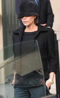 Victoria Beckham steps out in a cloche hat