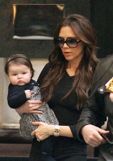 Victoria Beckham and her daughter Harper