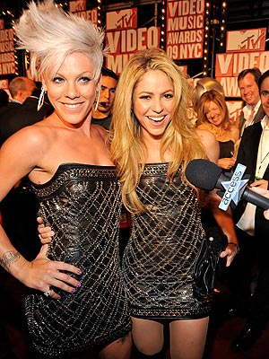 Pink and Shakira at the VMAs