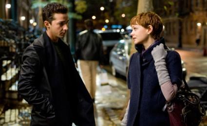 Shia LaBeouf and Carey Mulligan in Wall Street
