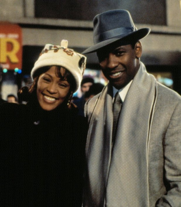 Whitney Houston and Denzel Washington