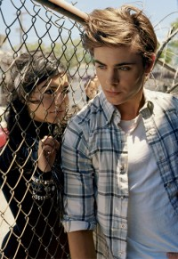 Zac Efron and Vanessa Hudgens in Elle