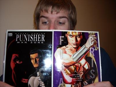 Kris Looking at Comics