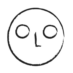 Circle with nose and eyes sketch