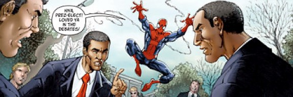 Barack Obama and Spider-Man
