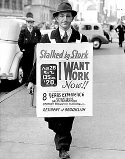 Depression Era Job Seeker