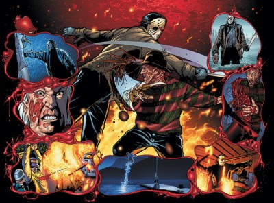 Freddy vs. Jason vs. Ash #5 cover art