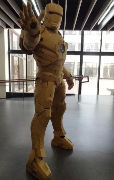 cardboard wearable iron man suit