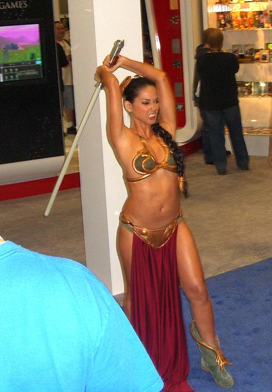 Olivia Munn Slave Leia