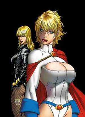 Power Girl and her friends