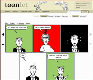 Toonlet website