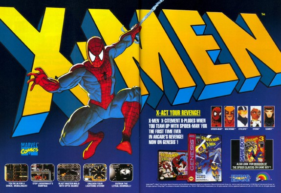 X-Men and Spiderman