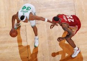 Lebron James guards Paul Pierce