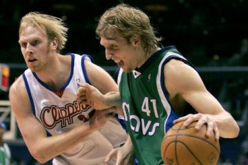 Chris Kaman and Dirk Nowitzki