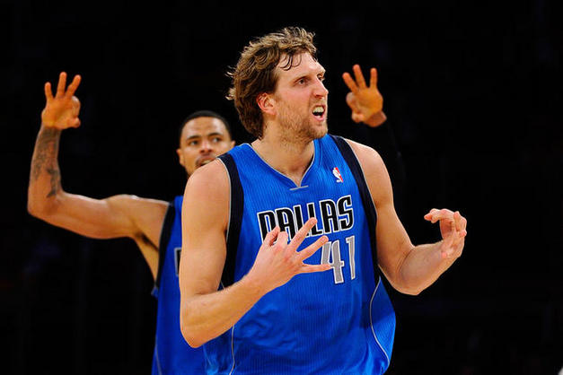 Dirk Nowitzki leads the Dallas Mavericks