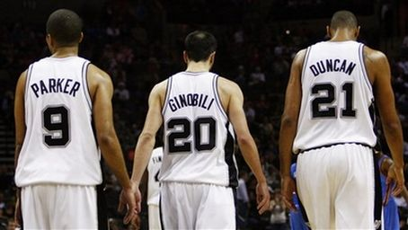 Tony Parker, Manu Ginobili,and Tim Duncan once again lead the San Antonio Spurs into the playoffs