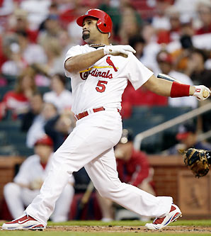 Albert Pujols is the preseason National League MVP favorite in his contract year