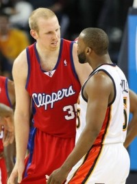 Chris Kaman and Baron Davis