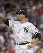 Andy Pettitte after giving up a three run home run to Juan Rivera