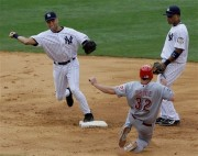 Derek Jeter, turning the double play