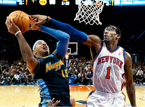 Carmelo Anthony is traded to the New York Knicks joining Amar'e Stoudemire