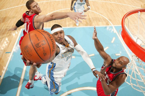 Carmelo Anthony versus the New Jersey Nets