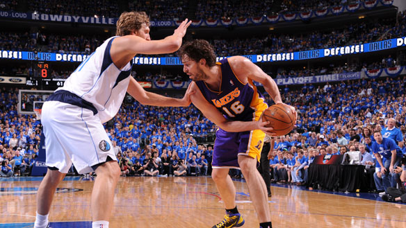 Dirk Nowitzki and the Dallas Mavericks are on the brink of eliminating Pau Gasol and the Los Angeles Lakers