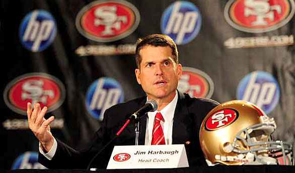 Jim Harbaugh to coach the San Francisco 49ers