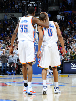 Kevin Durant and Russell Westbrook move forward to the NBA Western Conference Finals