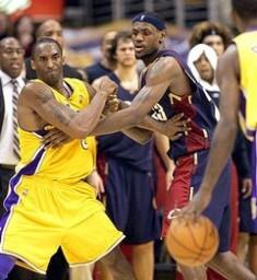 Kobe Bryant battles LeBron James for 2010 NBA MVP.