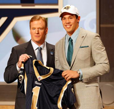 Roger Goodell and Sam Bradford at 2010 NFL Draft