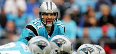 Jake Delhomme controls the Carolina Panthers' fate