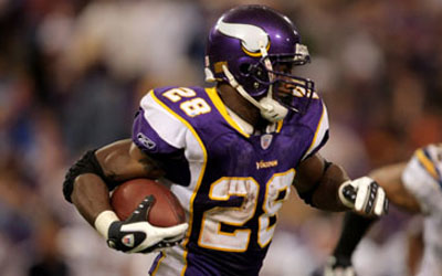 Adrian Peterson runs it for the Minnesota Vikings