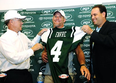 Brett Favre brings hope to the New York Jets
