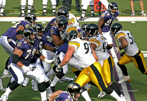 Baltimore Ravens versus Pittsburgh Steelers will be rough