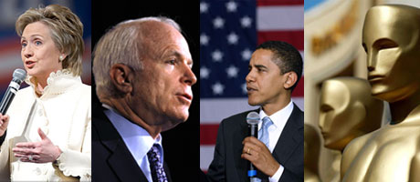 McCain Obama Clinton Oscar