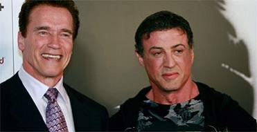 Arnold Schwarzenegger and Sylvester Stallone