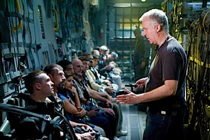 James Cameron on Avatar set