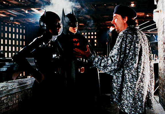 On the set Batman Returns