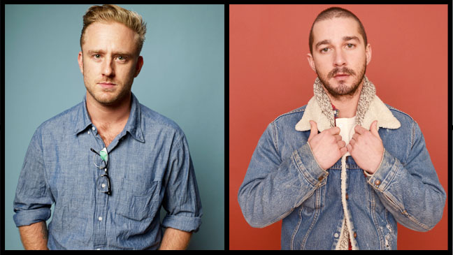 Ben Foster and Shia LaBeouf