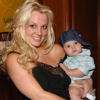 Britney Spears with son