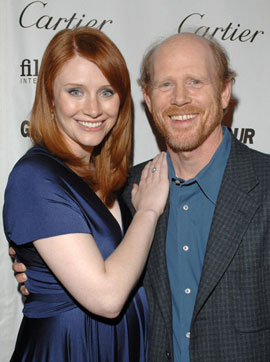 Bryce Dallas Howard with her father
