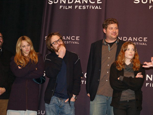 Choke crew celebrates at Sundance